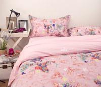 Modern Fashion Pastorale Korean Princess Pink 100% Cotton 4pcs Set Beddings Home Textile -Duvet Cover Bed sheet Pillowcase
