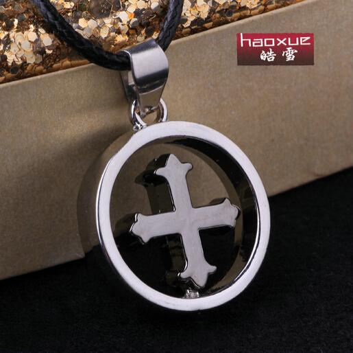 Braveman Jewelry new design circle cross man necklace high quality men's necklace jewelry(China (Mainland))