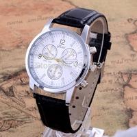 2015 New Quartz Men Watches Fashion & Casual Luxury Leather Watch Elegant Sports Out Door Wristwatch Wholesale relojio Hot Sale!