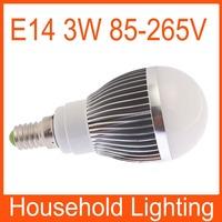 Warm White/White E14 Non-Dimmable Globe LED Bulbs Light Lamp AC 85-265V 3W Free Shipping 82097 82098