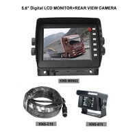 """2-Channel 5.6"""" Digital LCD Monitor KNS-M5602 and Rear View Camera KNS-675 with 15-Meter Wire Set for Car/Truck/Coach"""