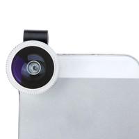Detachable Universal Clip-on 180 Degree Telephoto Fisheye Lens for iPhone 4 4S 5 Fish Eye Photo Kit High Quality