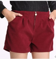 n and winter wool shorts pants add fertilizer XL boots pants shorts wide leg pants in winter grown significantly thinner