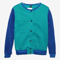 Spring Autumn Contrast Color Streetwear Casual  Long-sleeved jacket cardigan jackets women coat roupas femininas