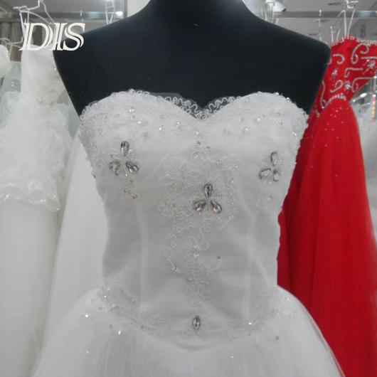 Custom made size luxury sweetheart wedding dresses lace wedding dress