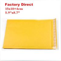 "Free shipping 15cmX18cm+4cm 5.9""x8.7"" 100pcs courier bags kraft Bubble Mailers Padded Envelopes air Bags 15cmx22cm"