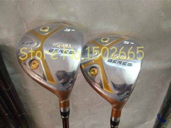 golf clubs honma Beres S-02 fairway wood 3# 5# regular flex free headcover 2pcs/lot right hand(China (Mainland))