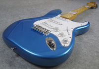 New !!! Electric Guitar, Fat ST Guitar, Reverse Head Electric Guitar,70S Metal Blue