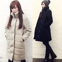 Women  Korean autumn / winter 2015  thickened long  padded coats  jacket thick warm lad winterwear black S to XXXL