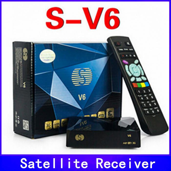 S-V6 Mini Digital Satellite Receiver S V6 with AV HDMI output Support 2xUSB WEB TV USB Wifi 3G Biss Key Youporn(China (Mainland))