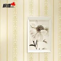 2015 non-woven wallpaper living room bedroom backdrop 3d European vertical stripes