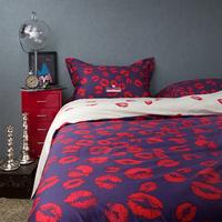 Modern Fashion Personality Couples KISS Lip Print 100% Cotton 4pcs Set Beddings Home Textile -Duvet Cover Bed sheet Pillowcase
