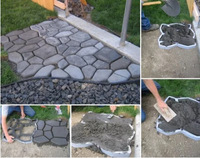 Free shipping Garden tool path-mate DIY Stone Pavement mold for making pathways for your garden / paving mold