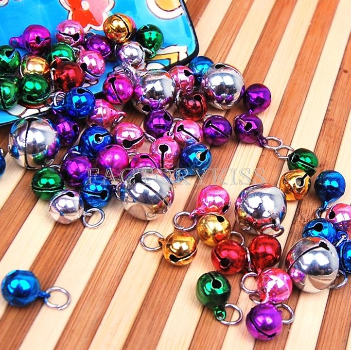 10шт/набор multicolors круглая металлическая собака щенок