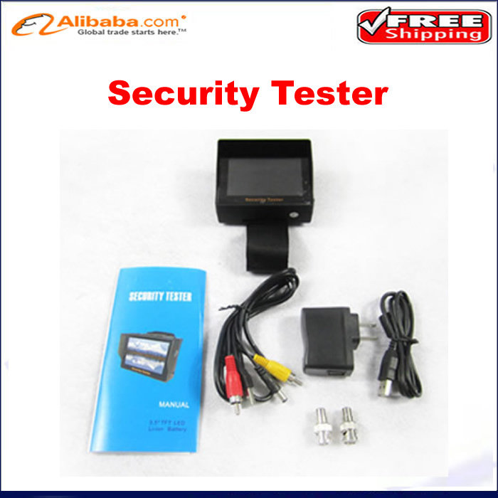 """Wrist type 3.5"""" inch TFT LCD Audio Video Security Tester CCTV Camera Test Monitor Portable free shiping(China (Mainland))"""