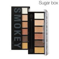 Sugar Box 6 Colors Make up Eyeshadow Palette Glamorous Smokey Eye Shadow Cosmetic Brand Makeup Kit With Eye Shadow Sponge