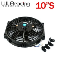 "WLR STORE-10Inch Universal 12V 80W Slim Reversible Electric Radiator AUTO FAN Push Pull With mounting kit  Type S 10"" PQY-FAN10"