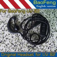 Baofeng walkie talkie Mic Headset K Type earphone for UV-82 UV82 UV-5R UV 5R UV-5RE UV-B5 BF-888S 888S UV-B5 Free shipping