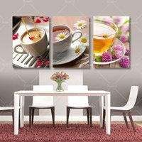 3 Группа напечатаны абстрактных Натюрморт кофе кухня декор дома живопись маслом домашний декор Куадрос холст стены картины без рам: pr162