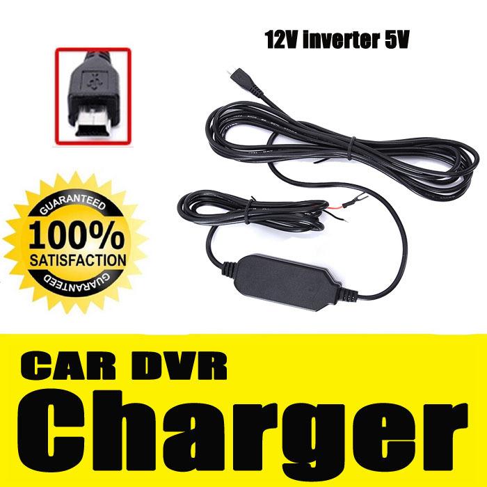 Hot Black X1PCS Car DVR Charger Power Inverter 12V 5V Lower Voltage Remodel MINI USB 3.5Meter CC03(China (Mainland))