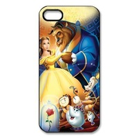 Beauty and The Beast For iPhone 4 Cases Cover Classic Cartoon Fits Case Free Shipping