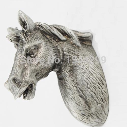 cavalo puxa terne metal botões de prata antigo armário crianças animal a