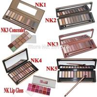 1 PC Eye Shadow Concealer Lip Gloss Wholesale 2014 New Nake Makeup Eyeshadow Palette 12-24 color NK 1 2 3 4 5 Make up Set