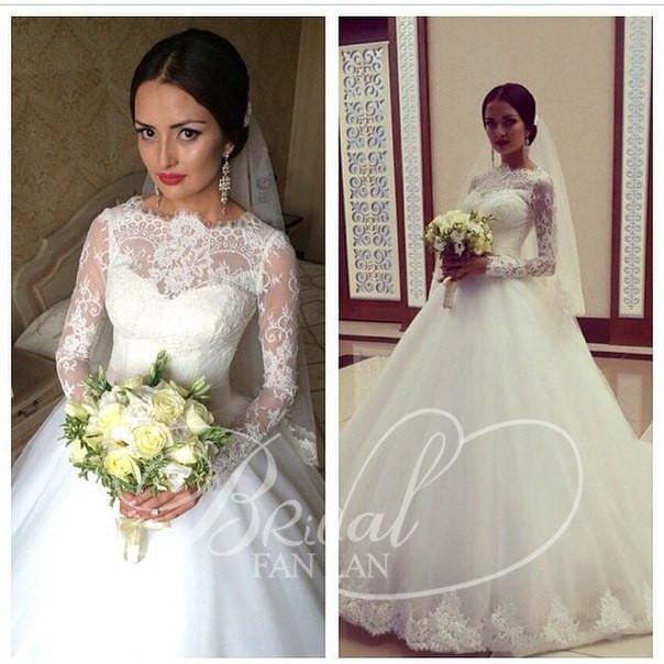 Aliexpress.com : vestido de noiva 2015 lange Ärmel spitze ...
