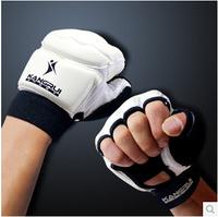 2015 Rushed Luvas Muay Thai Mma Gloves Leather Half Finger Fight Man Women Children Boxing Gloves Mitts Sanda Mma Muay Thai Kick