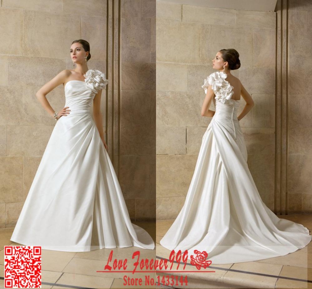 Simple Elegant White Wedding Dress : Elegant white simple long ball gown spring wedding dresses off