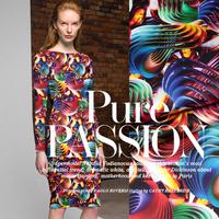 Colorful String Music Digital Print Stretch Silk(93%) Satin Fabric 1Meter 19Mommie