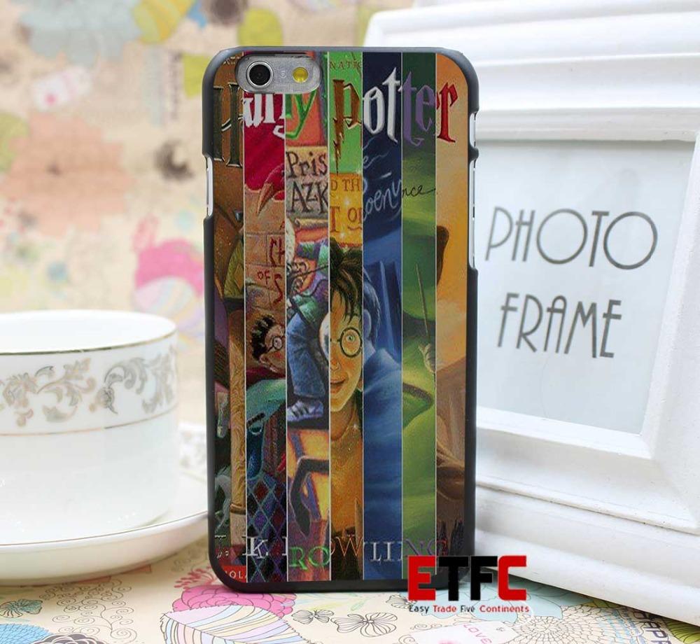 harry potter all books Design for iPhone 6 6 Plus Hard Black Skin Case ...