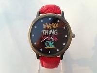 Newest 2015 Fashion Men Sports Watch Alloy Analog Antique Watches With OK Word Vogue Wristwatches Retro Unisex watches Dropship