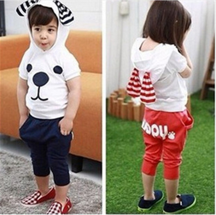 Children s carters baby clothing 2015 new summer fashion boys girls clothing sets t shirt and
