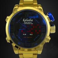 Men Full Steel Fashion Quartz Watch Dress Relogio Masculino Military Digital Watches Men Sports Brand Relojes Hour Kaletco