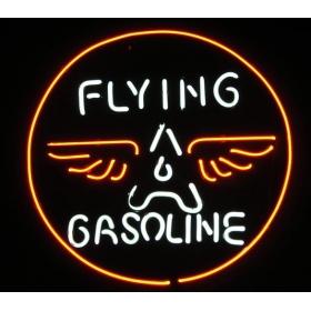 "FLYING GASOLINE LOGO HANDICRAFT NEON LIGHT BEER BAR PUB REAL GLASS TUBE SIGN 17x14""(China (Mainland))"