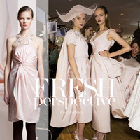 Japanese  brand  Pink fabrics with natural bamboo stripe  Fashion blended fabrics for suits sewing diy