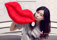 Free shipping 1pcs 65cm big lips pillow plush toy,pink color and red color for your choose