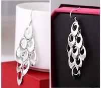High Quality Elegant Gold Plated Long Tassels Peacock Shape Earrings For Women Free Shipping 55mm