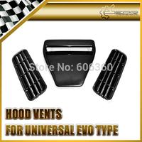 EPR - Universal Auto Car Plastic Hood Vents (EVO Type)  For Any Vehicle 3pcs