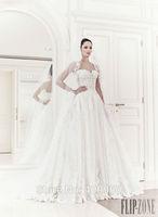 2015 Zuhair Murad Sexy Sweetheart A Line With Applique Floor Length Tulle Wedding Dresses Vestido De Noiva Sereia