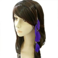 Retail 1pcs feather products long feathers Hair extension hair band ornaments hairpin hair accessory Hairwear women