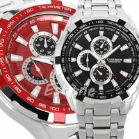 Fashion Curren Men's Stainless Steel Quartz Analog Luxury Sport Army Wrist Watch 6Colors