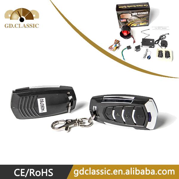 Free shipping One Way Car Alarm System 1 Way Auto Car Vehicle Burglar Alarm Keyless Entry Security System(China (Mainland))