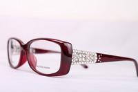 brand optical designer prescription eyeglasses women diamond luxury myopia  full rim frame eyewear spectacle frame  3189