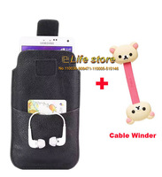 Fashion Belt Clip Case Mobile Phone Leather Case with Velcro +Cable Winder For Samsung Galaxy Grand Max G720N0