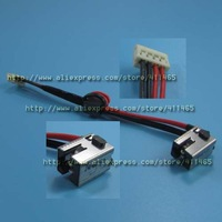 Free shipping5x New Power DC Jack with Cable Connector Socket fit for  Toshiba C855 C855D C855D C850