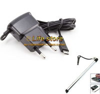 USB Mobile Phone Charger Travel Charger EU Charger AC Wall Charger +Stylus Pen For Samsung Galaxy Grand Max G720N0