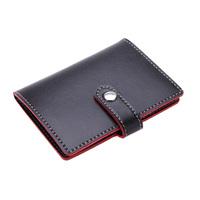 Convenient Soft Premium Leather Wallets Credit Card Holder ID Business Case Purse Unisex Classy Black
