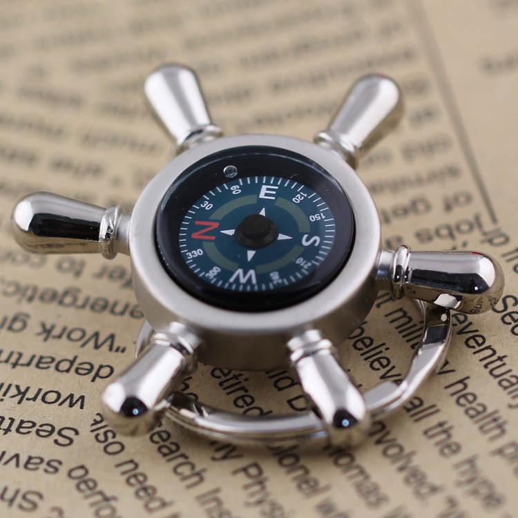 Rudder plate compass keychain key ring key chain car keychain car gifts gift(China (Mainland))